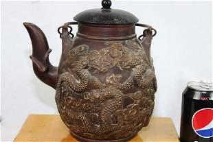 Antique Chinese Dragon Zisha Teapot