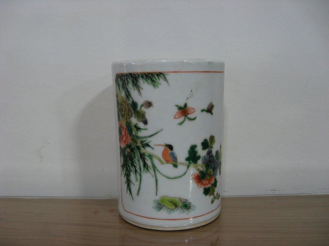 Antique Chinese Porcelain Pen Holder 1800s