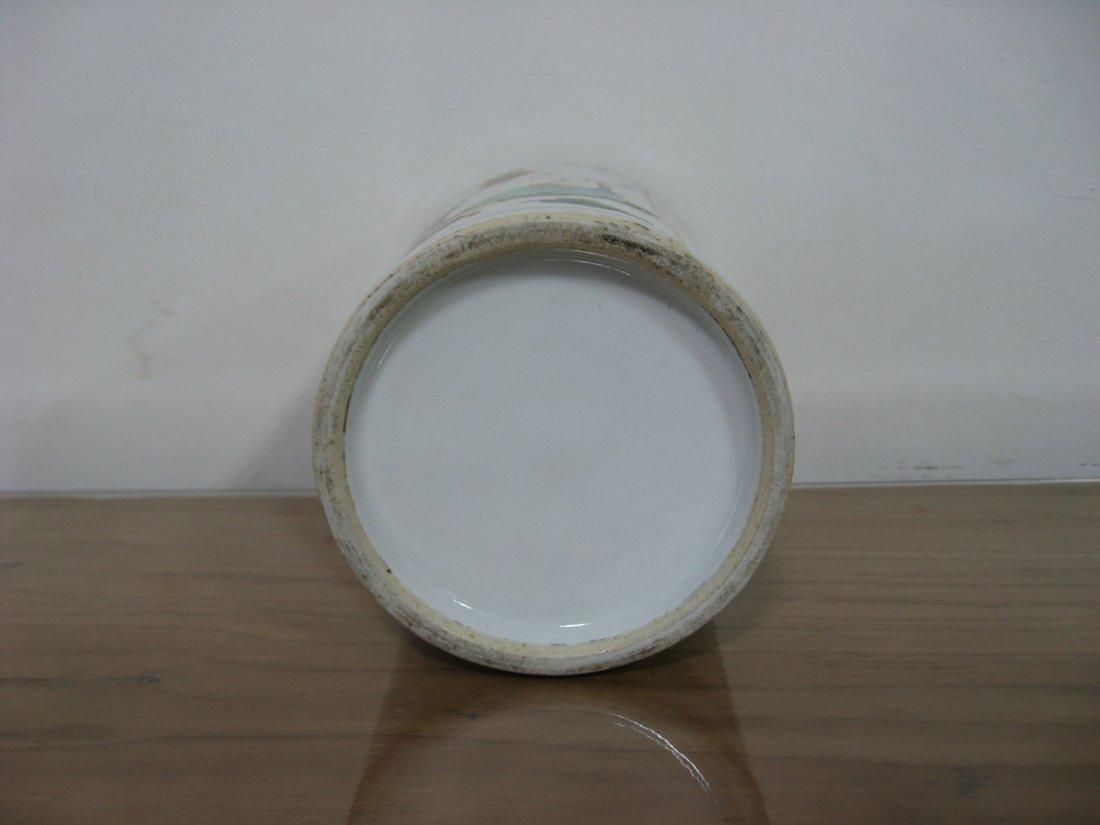 Antique Chinese Porcelain Pen Holder 1800s - 4