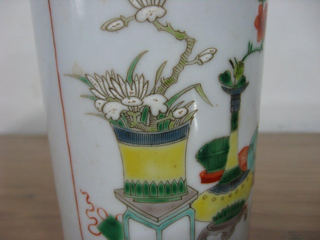 Antique Chinese Porcelain Pen Holder 1800s - 5