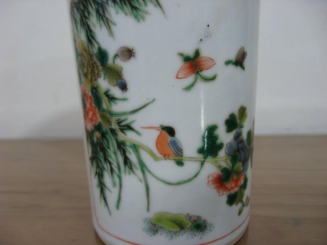 Antique Chinese Porcelain Pen Holder 1800s - 6