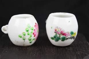 Antique Chinese Porcelain Birds Food pot