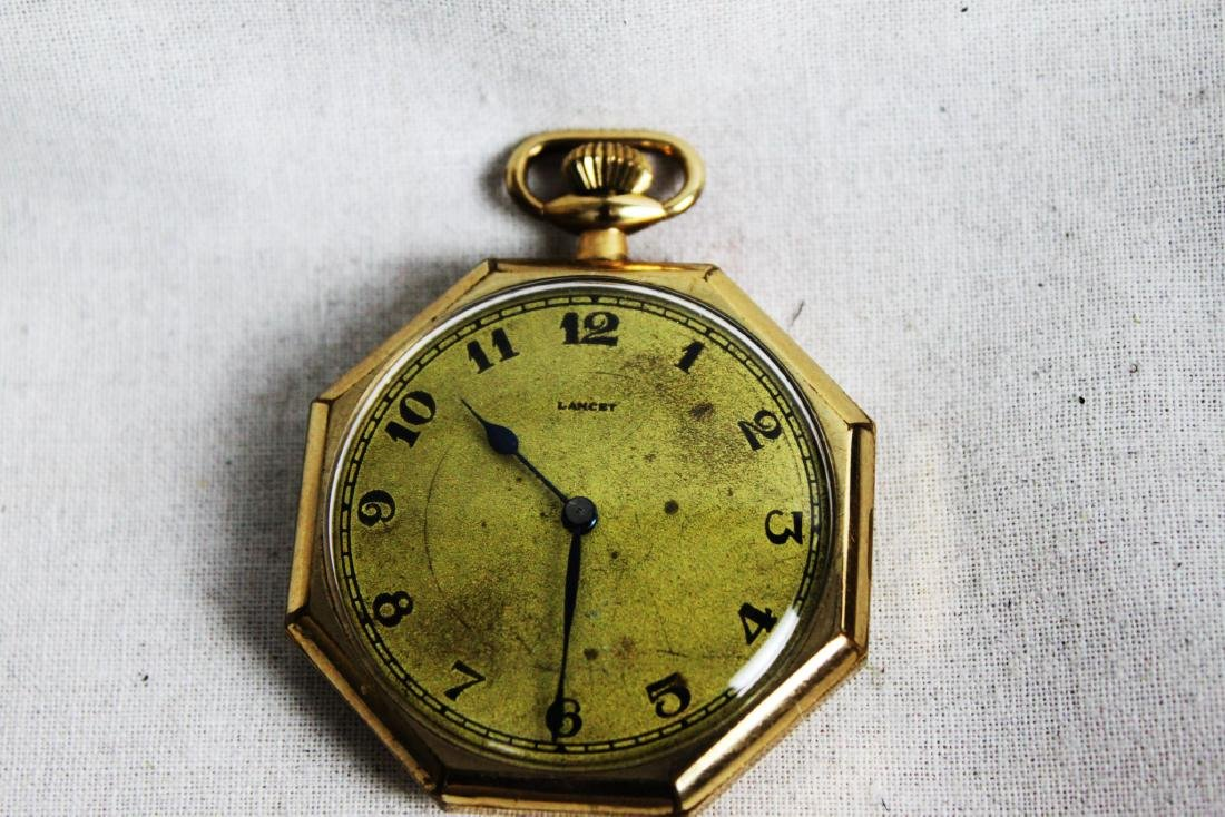 Vintage Early 1900s Lancet Pocket Watch - 3
