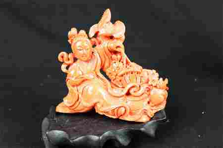 Hand Carved Chinese Statue