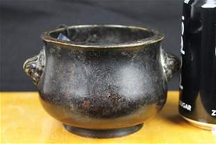 Antique Chinese Bronze Cesnsor Burner around 1800s
