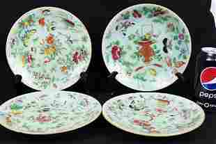 Four of Antique Chinese Porcelain Plates