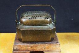 Antique Chinese Bronze Hand Warmer