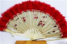 Two Antique Chinese Dancing Folding Fan