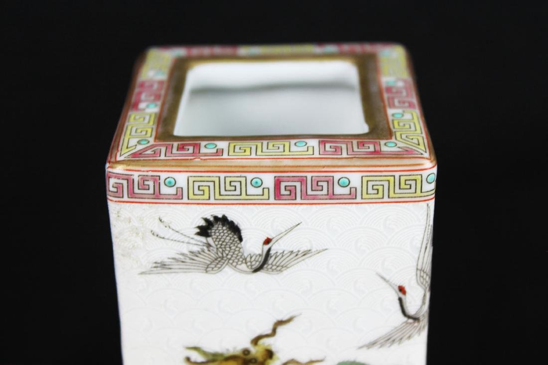 Antique Chinese Porcelain Brush Holder - 10