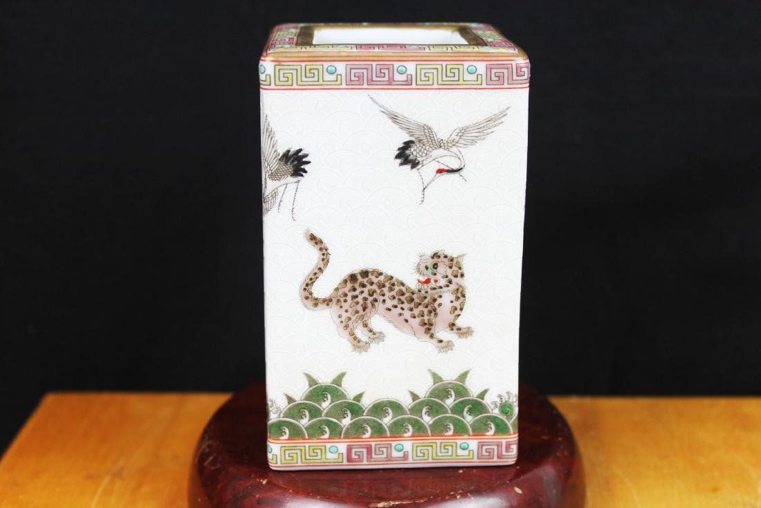 Antique Chinese Porcelain Brush Holder - 4