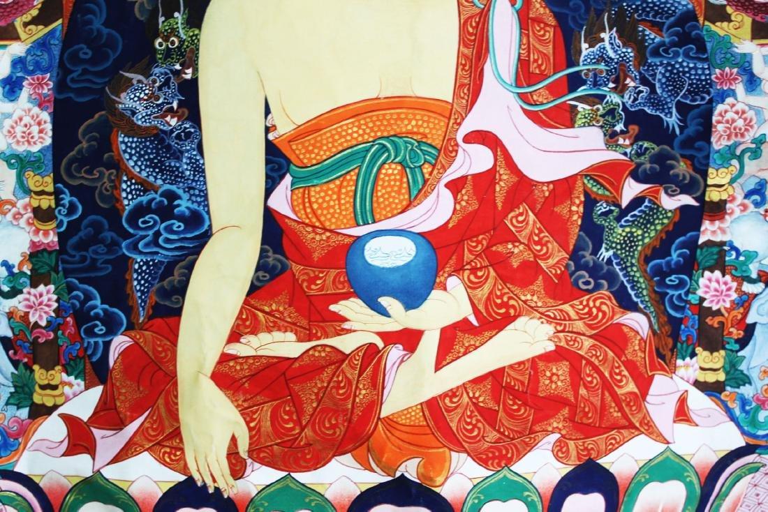 Antique Tibet Tangka Silk Painting - 10