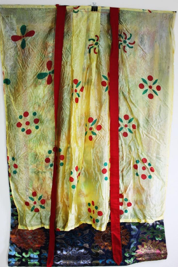 Antique Tibet Tangka Silk Painting