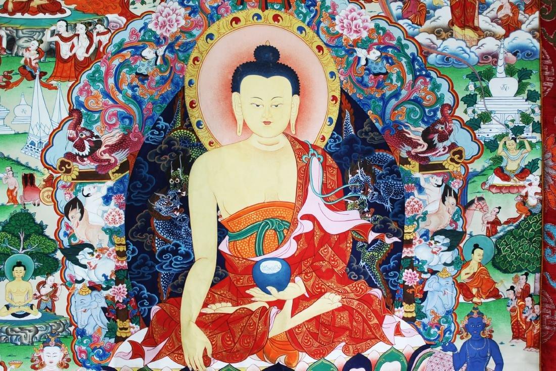Antique Tibet Tangka Silk Painting - 6