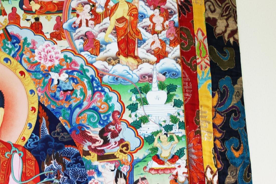 Antique Tibet Tangka Silk Painting - 7
