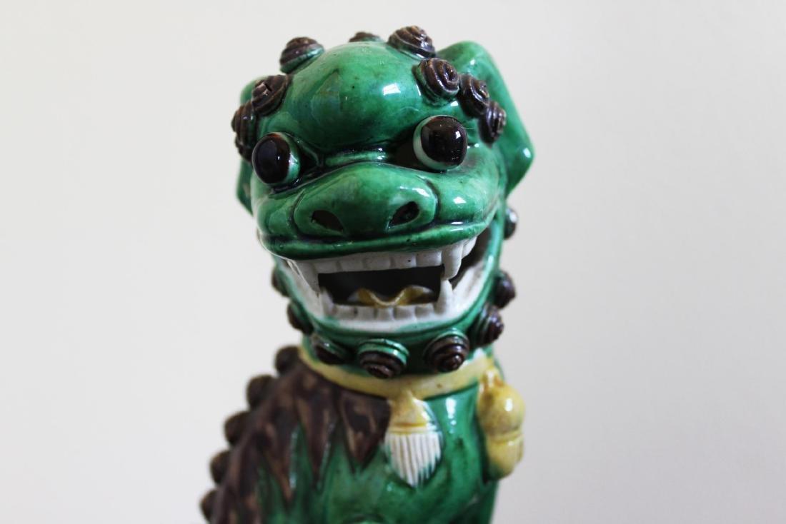 Antique Chinese Porcelain Lion Statues - 2