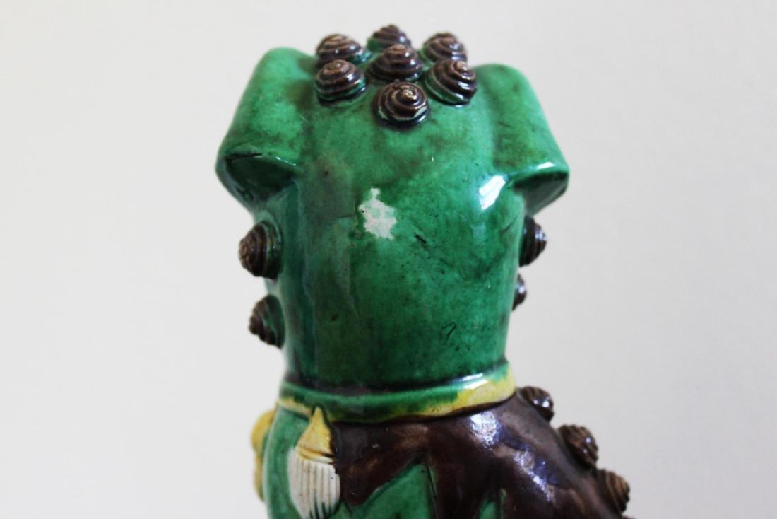 Antique Chinese Porcelain Lion Statues - 4