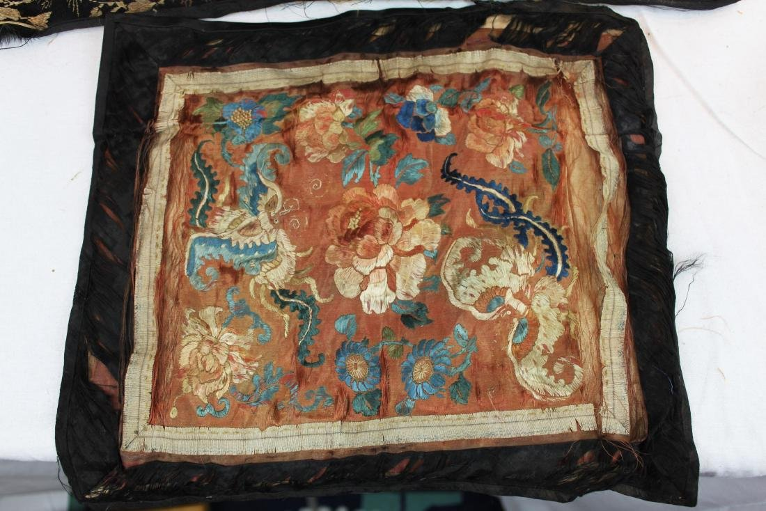 Two Antique Chinese Hand Made silks - 3