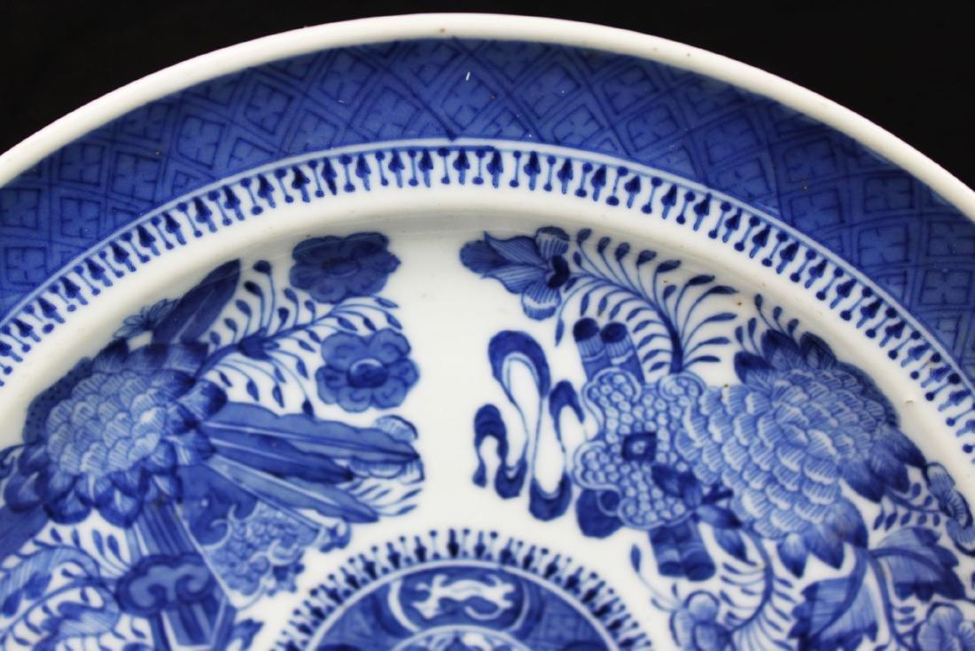 A Pair Antique Blue&White Chinese Porcelain Plates - 2