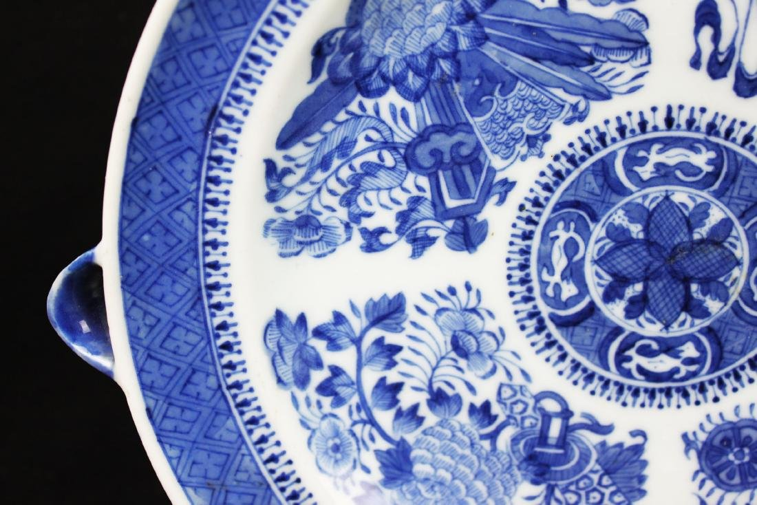 A Pair Antique Blue&White Chinese Porcelain Plates - 3