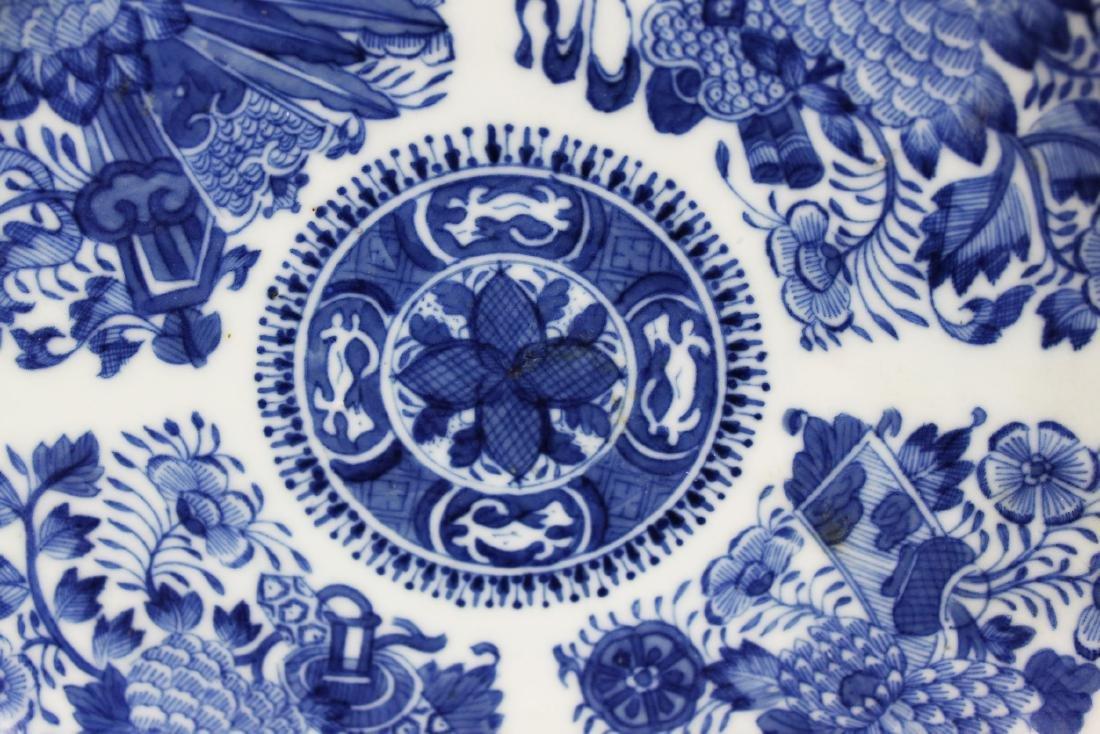 A Pair Antique Blue&White Chinese Porcelain Plates - 4