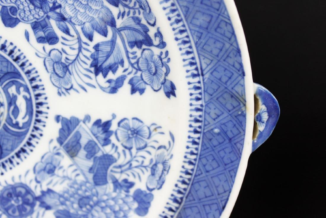 A Pair Antique Blue&White Chinese Porcelain Plates - 5