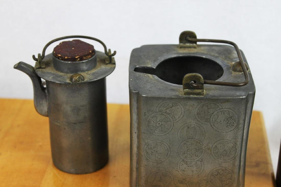 Antique Chinese Bronze Liquor Warmer - 5