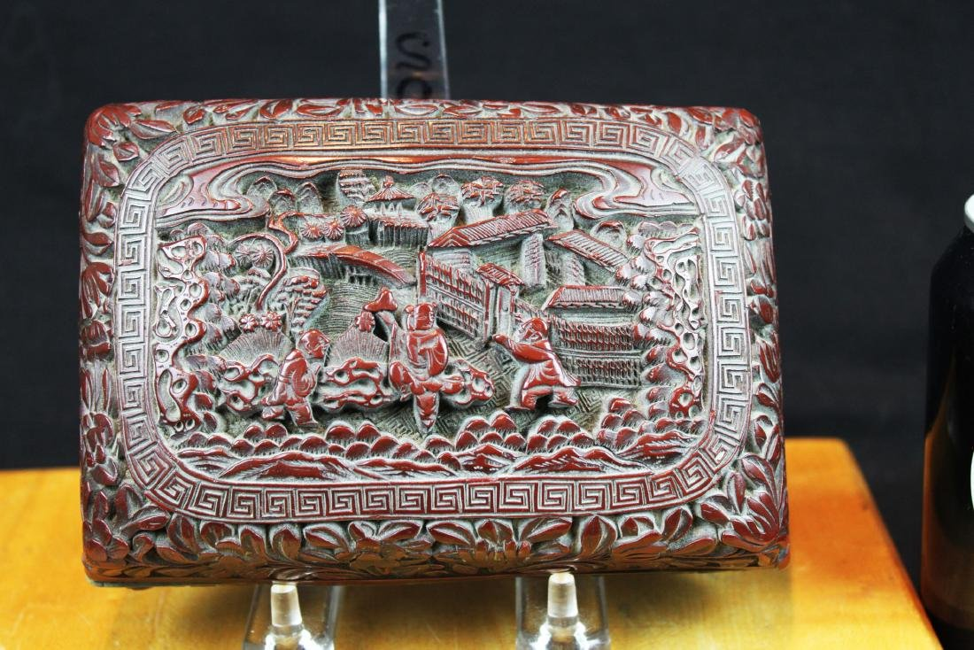 Antique Hand Carved Wood Box