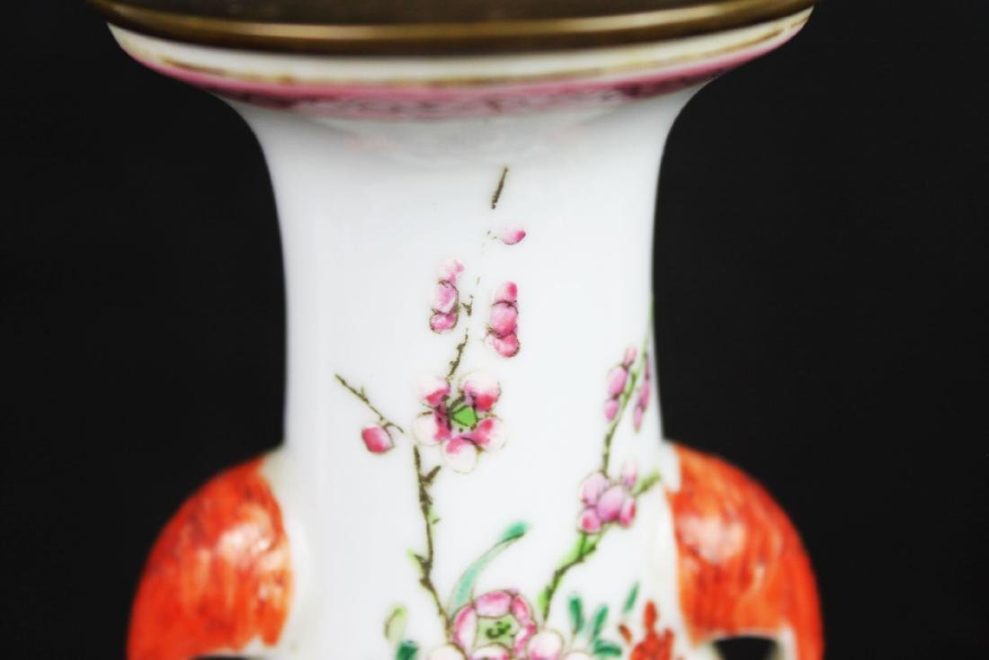 Antique Chinese Porcelain Lamp - 2