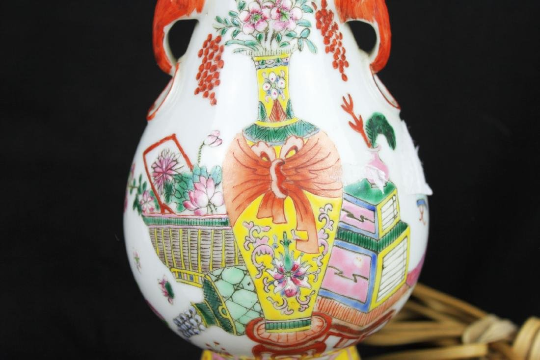 Antique Chinese Porcelain Lamp - 5