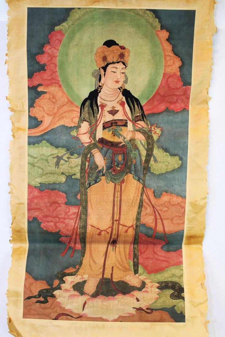 Antique Chinese Tangka