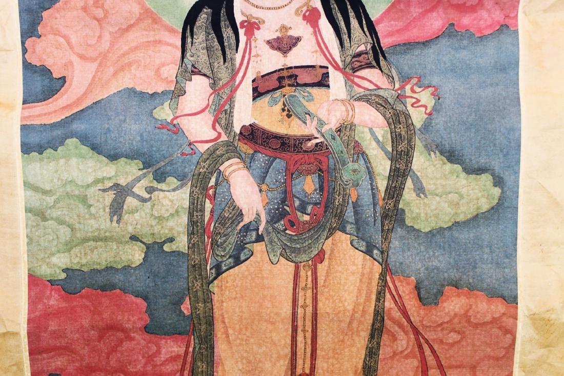 Antique Chinese Tangka - 4