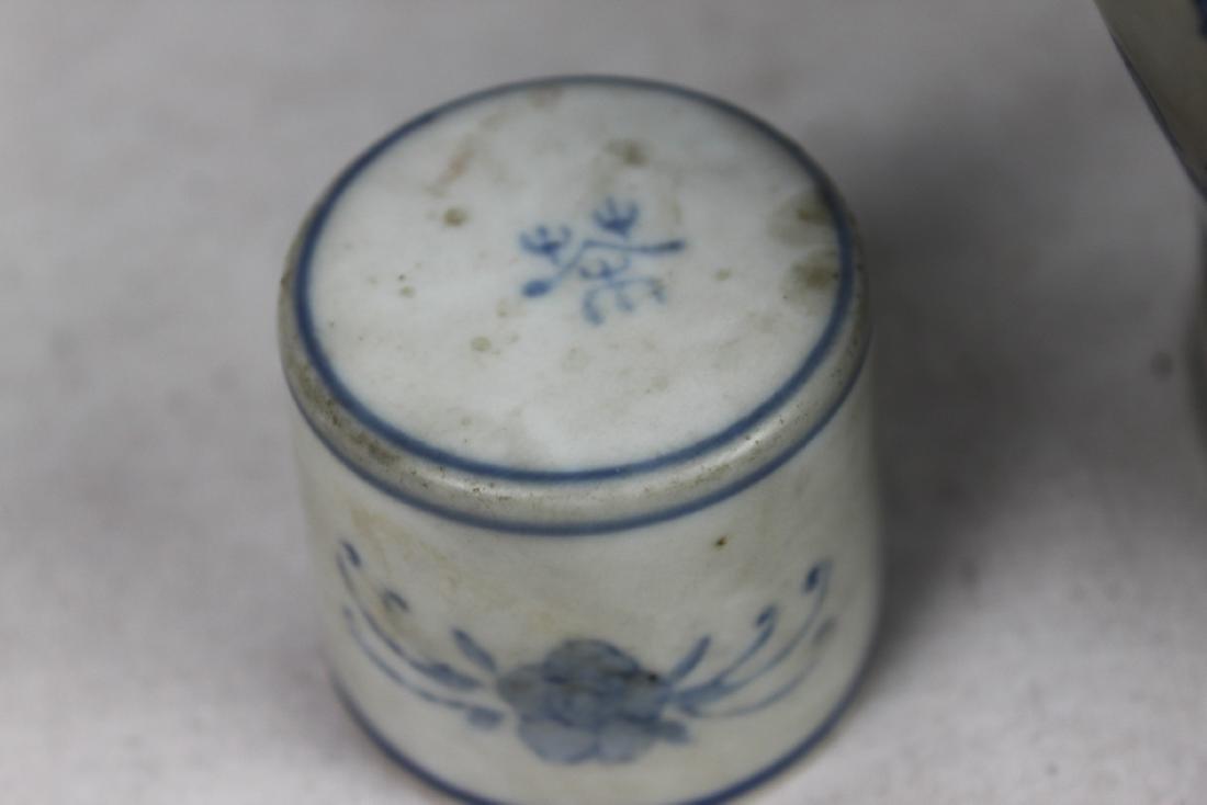 Antique Chinese Porcelain Liquior Bottle - 8