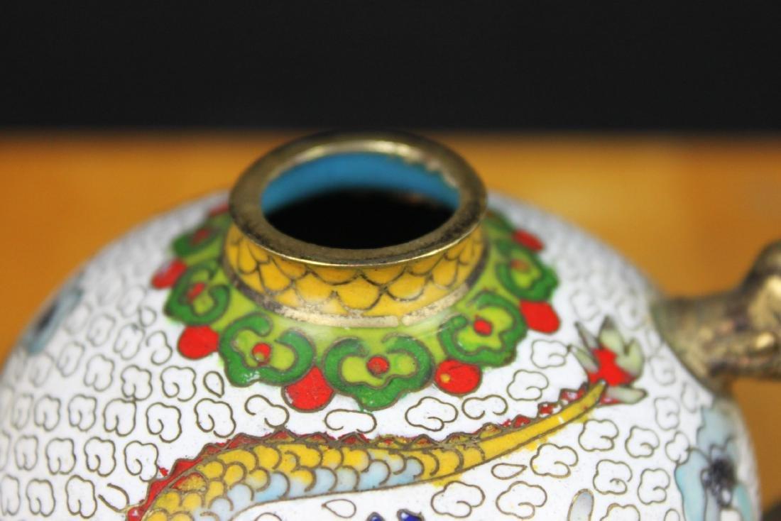 Antique Chinese Cloisonne Tea Set - 4