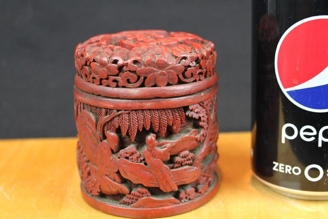 Hand Carved Wood Box