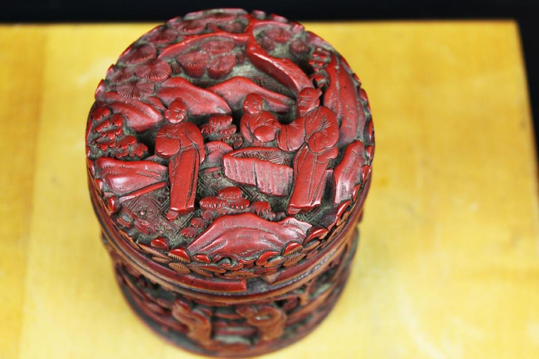 Hand Carved Wood Box - 2