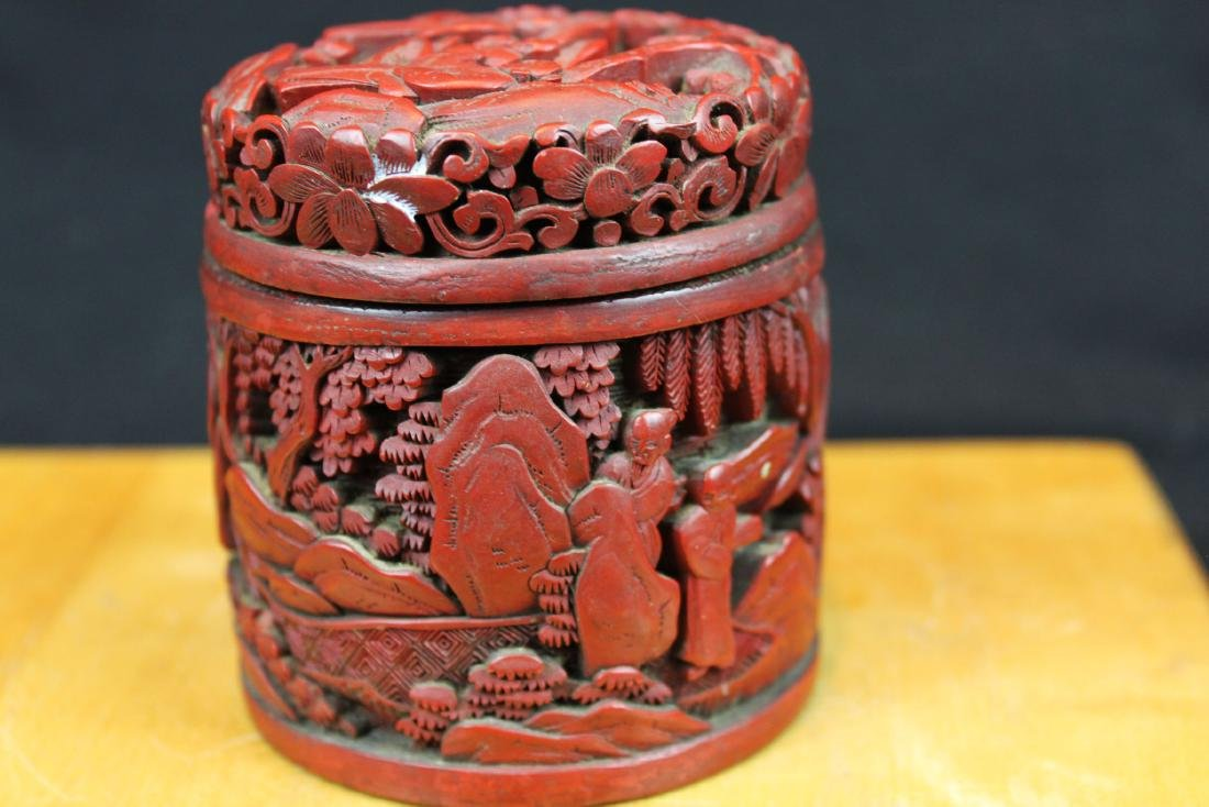 Hand Carved Wood Box - 4