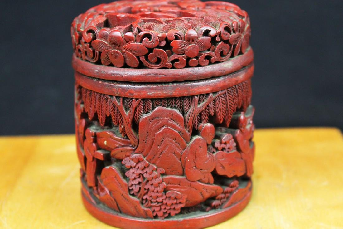 Hand Carved Wood Box - 5