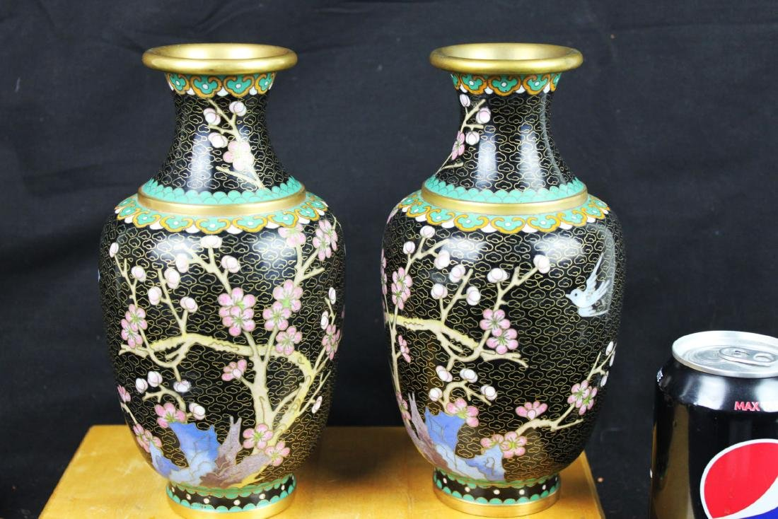 A Pair Chinese Cloisonne Vase