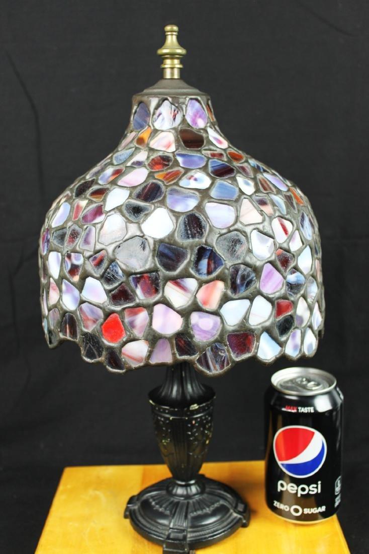 Antique Stones Cover Bronze Based Lamp