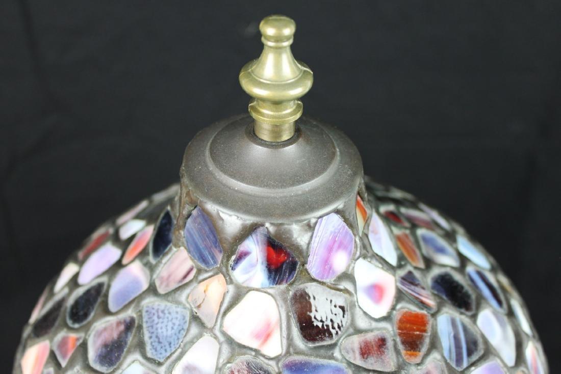 Antique Stones Cover Bronze Based Lamp - 2