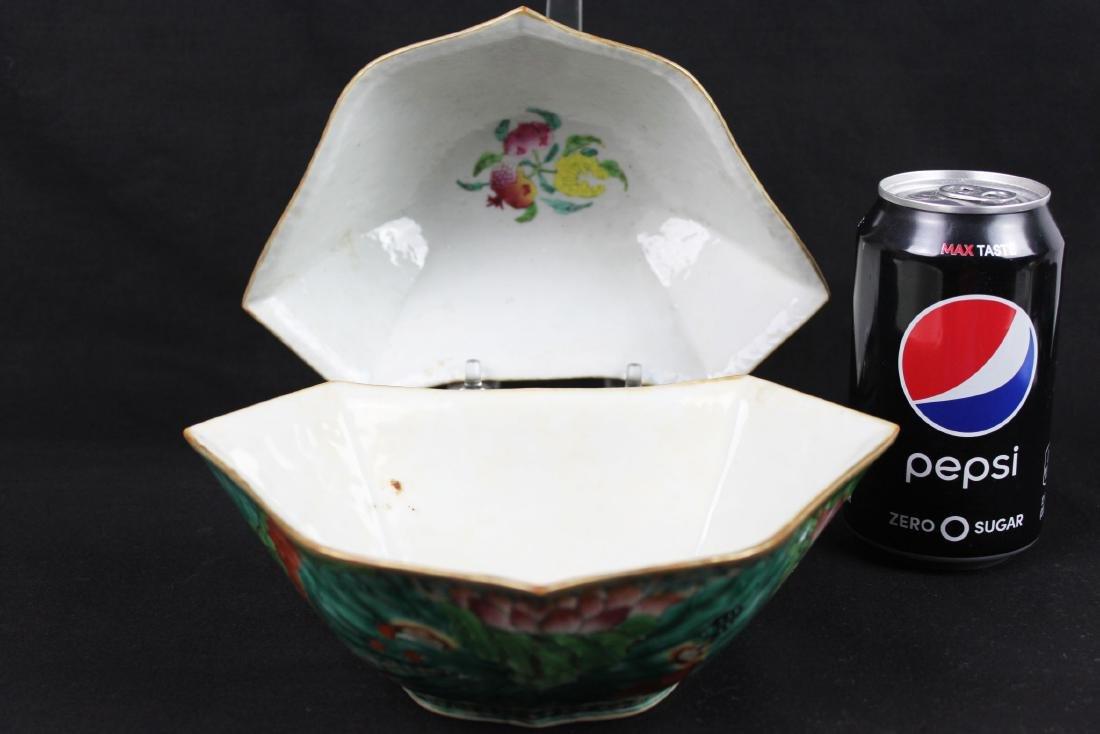 A Pair Antique Chinese Porcelain Planter - 2