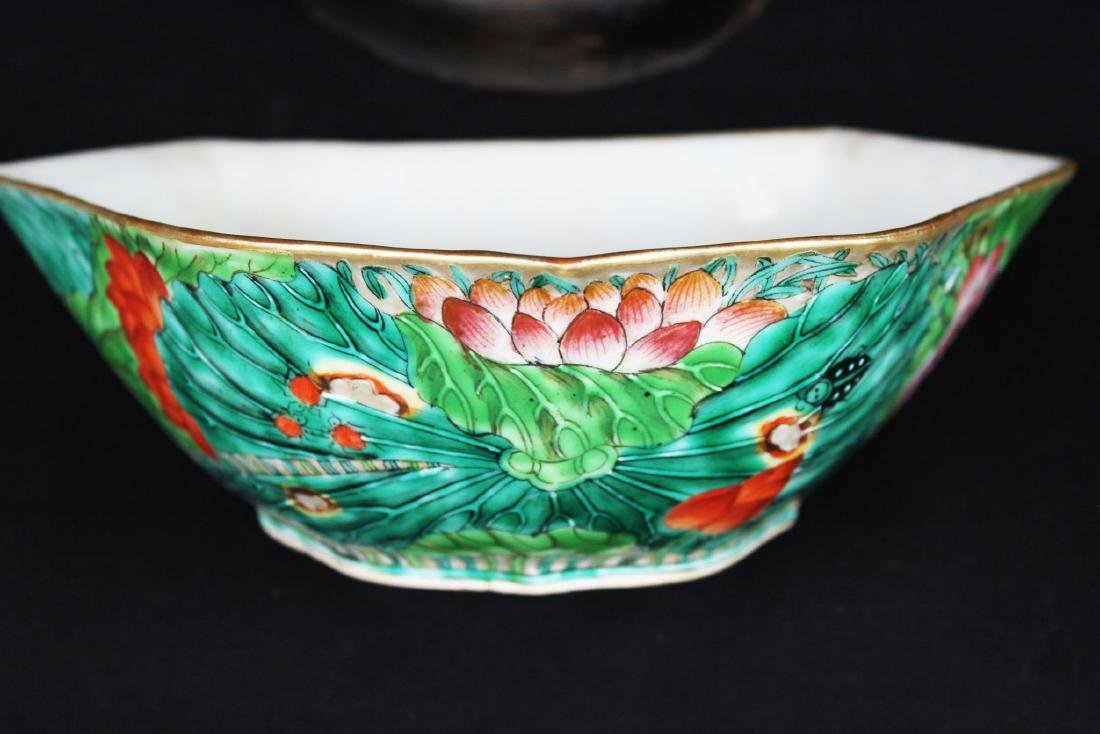 A Pair Antique Chinese Porcelain Planter - 5