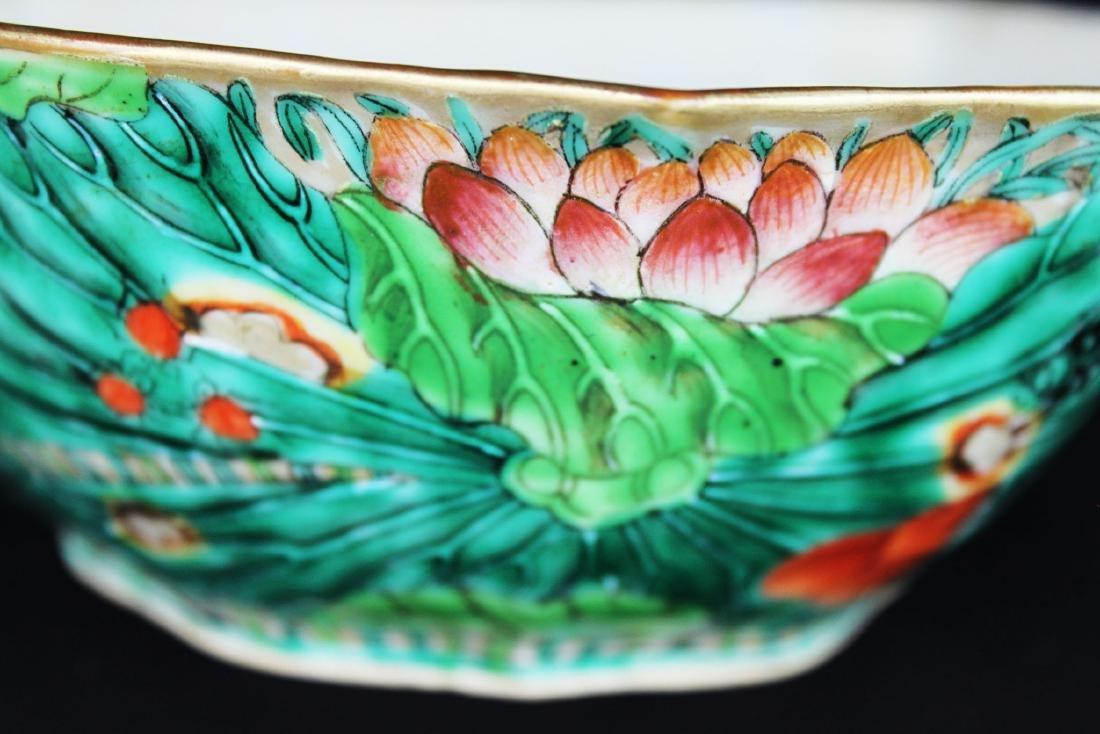 A Pair Antique Chinese Porcelain Planter - 7