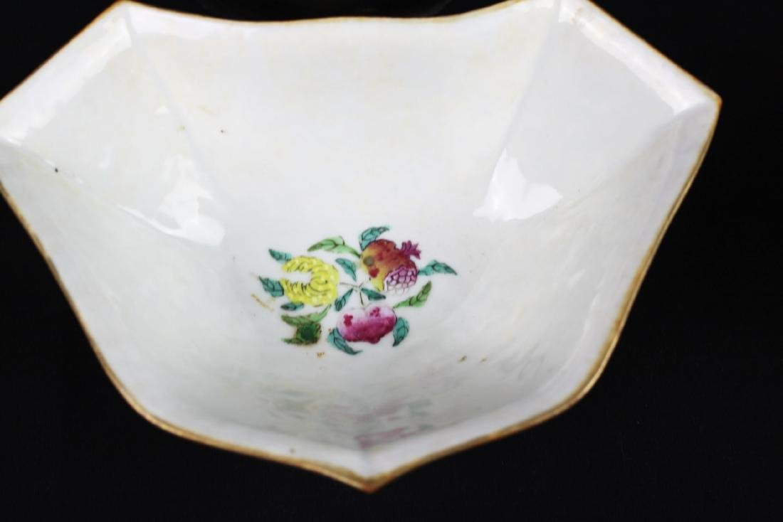 A Pair Antique Chinese Porcelain Planter - 9