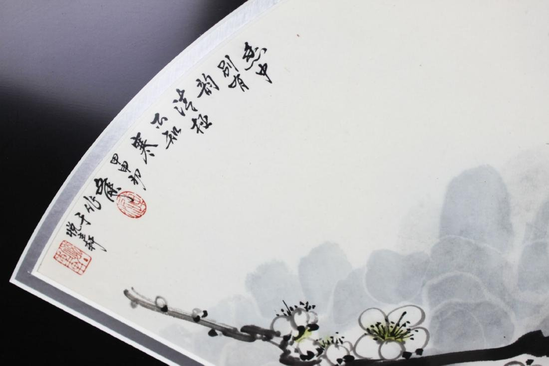 Antique Chinese Fan Shape Hand Painting - 2