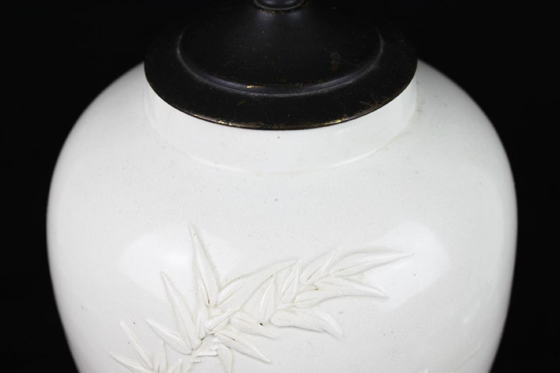 Antique Chinese White Porcelain Lamp - 2