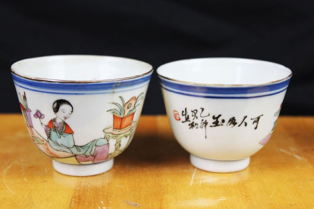 Antique Chinese Porcelain Tea cups 1900s