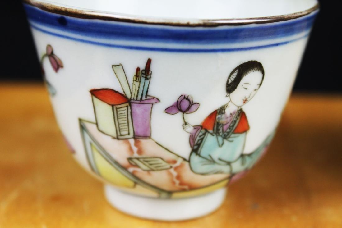 Antique Chinese Porcelain Tea cups 1900s - 3