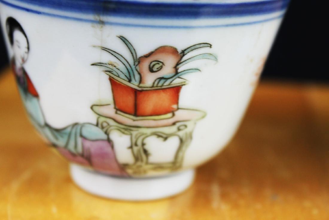 Antique Chinese Porcelain Tea cups 1900s - 4