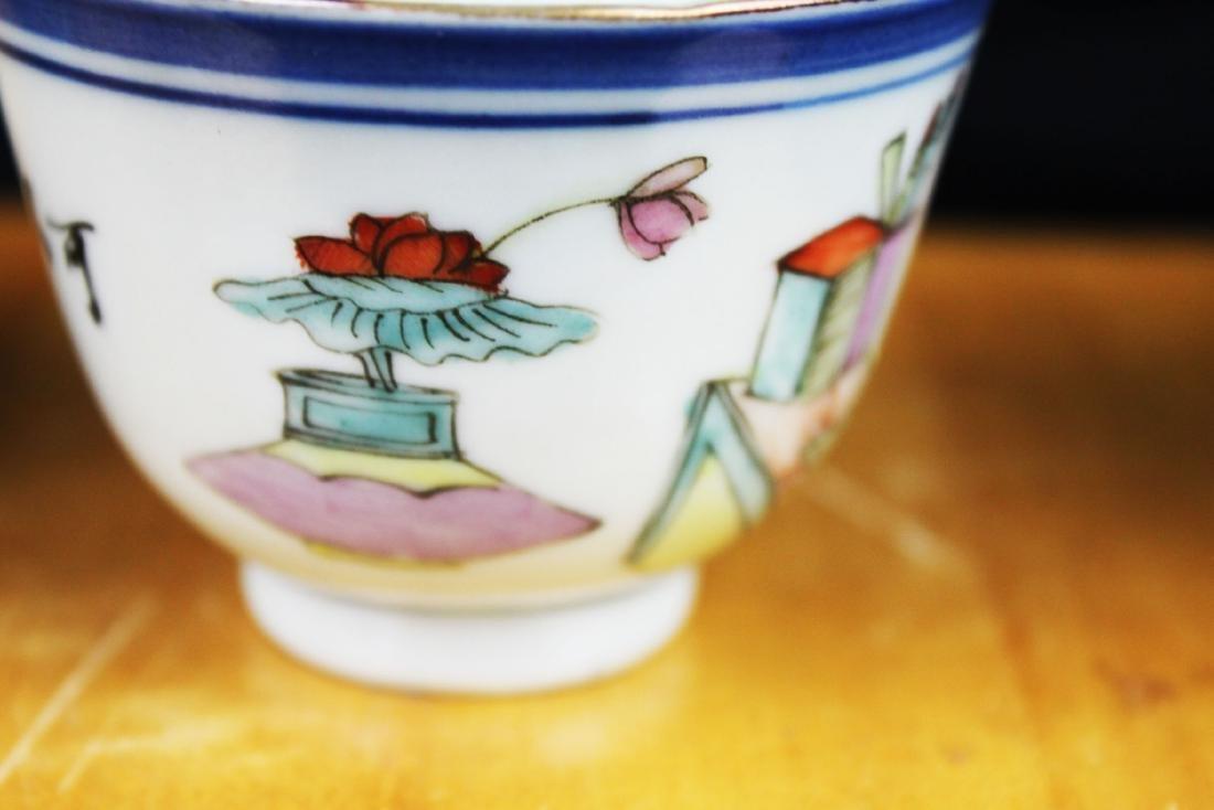 Antique Chinese Porcelain Tea cups 1900s - 9